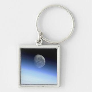 Earth's limb Silver-Colored square keychain