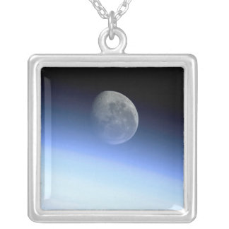 Earth's limb silver plated necklace