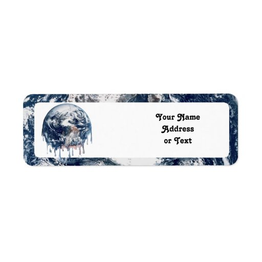 Earth's Meltdown Custom Return Address Labels