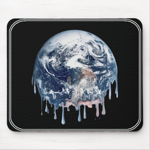 Earth's Meltdown Mouse Pad