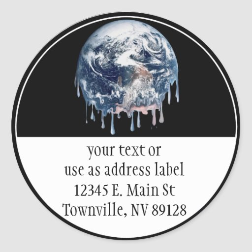 Earth's Meltdown Stickers