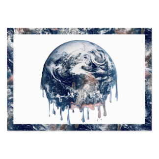 Earth's Meltdown (W/Earth Trim) Large Business Cards (Pack Of 100)