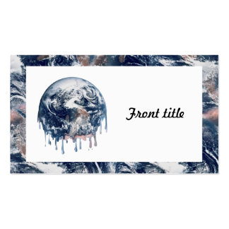 Earth's Meltdown (W/Earth Trim) Double-Sided Standard Business Cards (Pack Of 100)