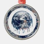 Earth's Meltdown (W/Earth Trim) Ornament