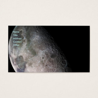 Earth's Moon Business Card