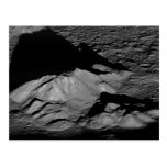 Earth's Moon Tycho Crater Central Peak Postcard