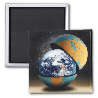 Earth's Protective Cover 2 Inch Square Magnet