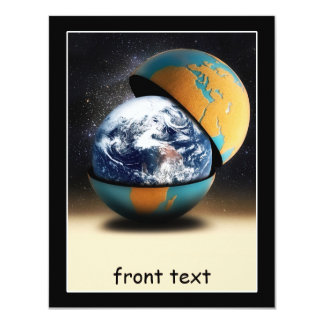 Earth's Protective Cover 4.25x5.5 Paper Invitation Card