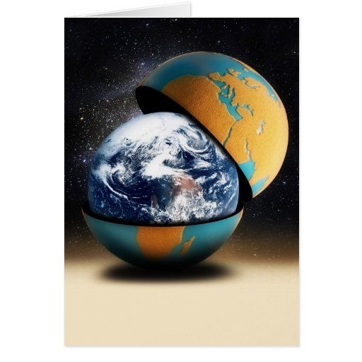 Earth's Protective Cover Greeting Card