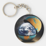 Earth's Protective Cover Keychain