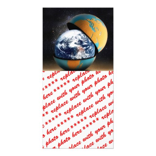 Earth's Protective Cover Personalized Photo Card