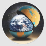 Earth's Protective Cover Round Stickers