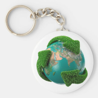Earth's rotation causes the movement of the time keychain