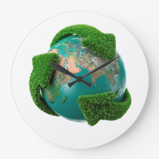 Earth's rotation large clock
