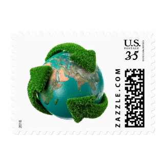 Earth's rotation postage