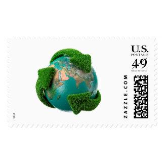Earth's rotation postage