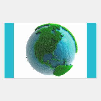 Earth's rotation rectangular sticker