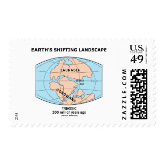 Earth's Shifting Landscape (Triassic) Postage