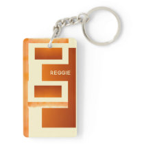 Earthtone Abstract Southwest Architecture Template Keychain