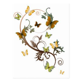 EarthTone Butterflies Postcard