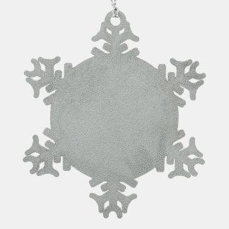 Earthtone Chevron Stripes with Round Monogram Snowflake Pewter Christmas Ornament