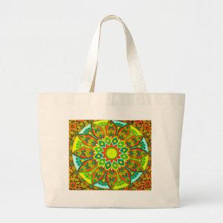 Earthtone Ethnic Look Mandala Canvas Bag