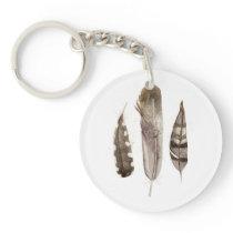 Earthtone Feathers II Keychain