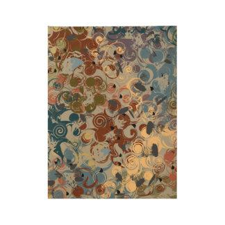 Earthtone Swirl Wood Poster