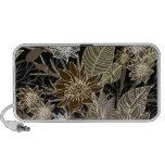 Earthtone Tropical Flowers, Leaves & Butterflies iPhone Speaker