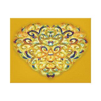 Earthtone Woven Heart Canvas Print