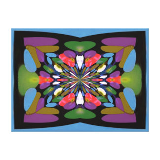 Earthtones Fractal Design Wrapped Canvas Canvas Print
