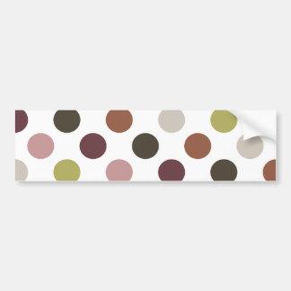 Earthtones Polka Dots Bumper Sticker