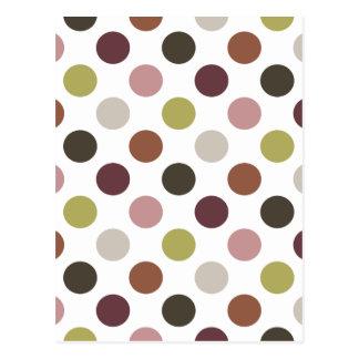 Earthtones Polka Dots Postcard