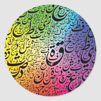 EarthTypo ColorWheel Sticker