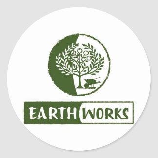 EarthWorks gleaning gear! Classic Round Sticker