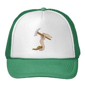 Earthworm Claude And His Gardening Hoe Trucker Hat