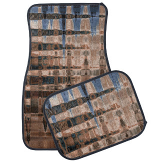 Earthy Abstract Good Vibrations Brown/Blue Mat Set