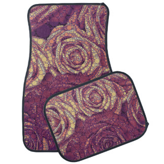 Earthy Abstract Roses Car Mat