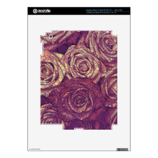 Earthy Abstract Roses Skins For iPad 3