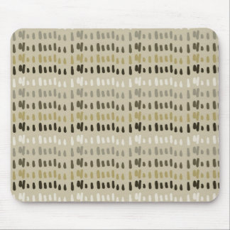 Earthy Abstract Stripes Mouse Pad