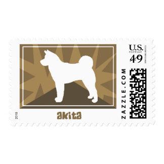 Earthy Akita Postage Stamps