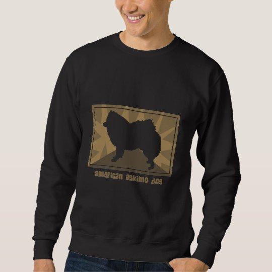 Earthy American Eskimo Dog Gifts Sweatshirt
