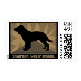 Earthy American Water Spaniel Postage