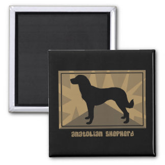 Earthy Anatolian Shepherd Gifts 2 Inch Square Magnet