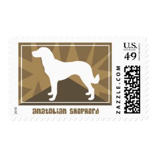 Earthy Anatolian Shepherd Postage Stamps