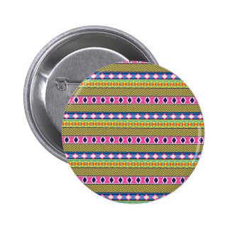 Earthy Aztec Tribal Borders 2 Inch Round Button