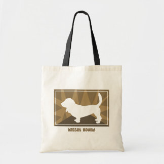 Earthy Basset Hound Gifts Canvas Bags