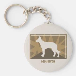 Earthy Beauceron Gifts Keychain