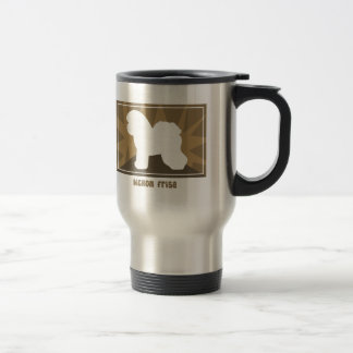 Earthy Bichon Frise Gifts Travel Mug