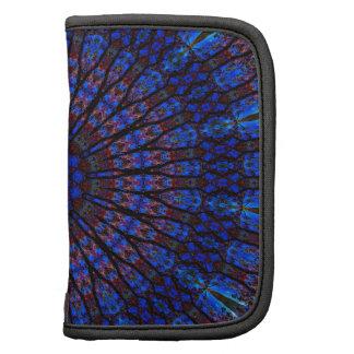 Earthy Blue Fractal Kaleidoscope Planner